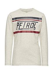 T-Shirt LS R-Neck - ANTIQUE WHITE MELEE