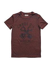 T-Shirt SS R-Neck - BURNT ORANGE