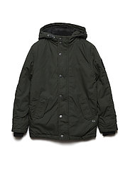 Boys Jacket Parka - DARK ARMY