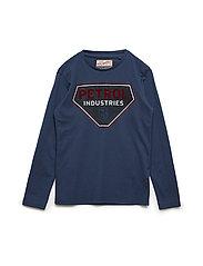 T-Shirt LS R-Neck - PETROL BLUE