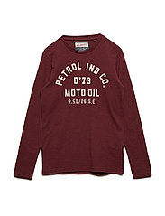 T-Shirt LS R-Neck - BURGUNDY