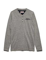 T-Shirt LS V-Neck - LIGHT SLATE MELEE