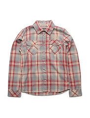 SHIRT LS - FADED RED