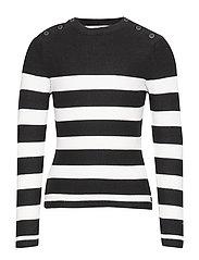 Girls Knitwear Round Neck - BLACK