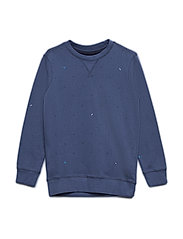 Sweater R-Neck - STONE BLUE