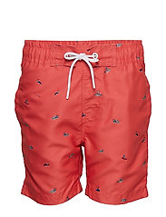 Swimshort - RED CORAL