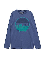 T-Shirt LS R-Neck - STONE BLUE