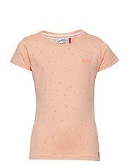 T-Shirt SS R-Neck - PEACH NECTAR