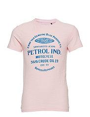 T-Shirt SS R-Neck - PASTEL PINK