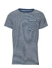 T-Shirt SS R-Neck - LIGHT INDIGO