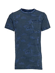 T-Shirt SS R-Neck - FADED INDIGO