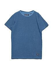 T-Shirt SS R-Neck - BLUE SMOKE