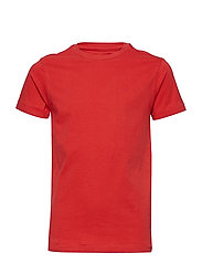 T-Shirt SS R-Neck - RED CORAL