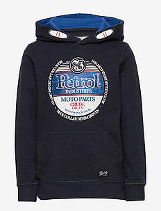 Sweater Hooded - bluzy z kapturem - deep navy