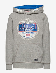 Sweater Hooded - bluzy z kapturem - light grey melee