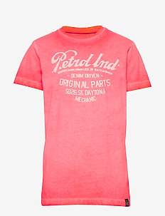 T-Shirt SS-R-Neck - short-sleeved - fiery coral