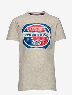 T-Shirt SS-R-Neck - short-sleeved - antique white melee