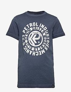 T-Shirt SS-R-Neck - short-sleeved - deep navy