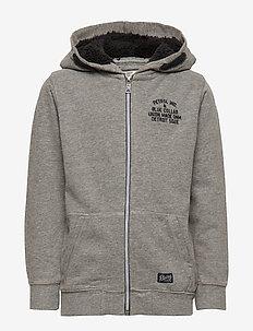 Sweater Hooded - LIGHT SLATE MELEE