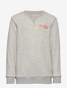 Sweater R-Neck - LIGHT GREY MELEE