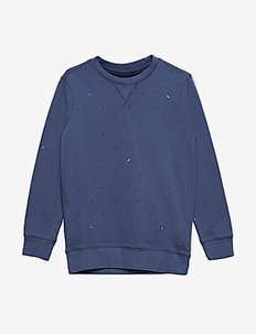 Sweater R-Neck - STONE BLUE