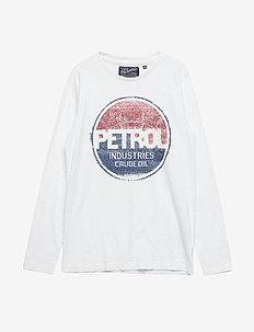 T-Shirt LS R-Neck - ANTIQUE WHITE