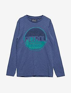 T-Shirt LS R-Neck - STONE BLUE