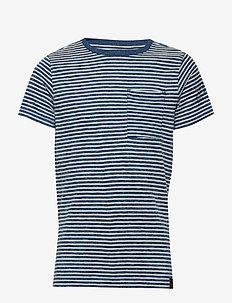 T-Shirt SS R-Neck - LIGHT INDIGO