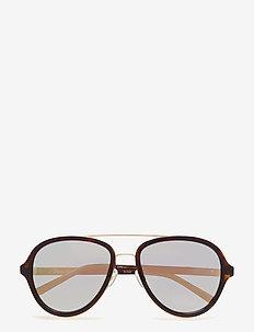 PHILLIP LIM 16 C24 - okulary przeciwsłoneczne aviator - classic tortoise shell