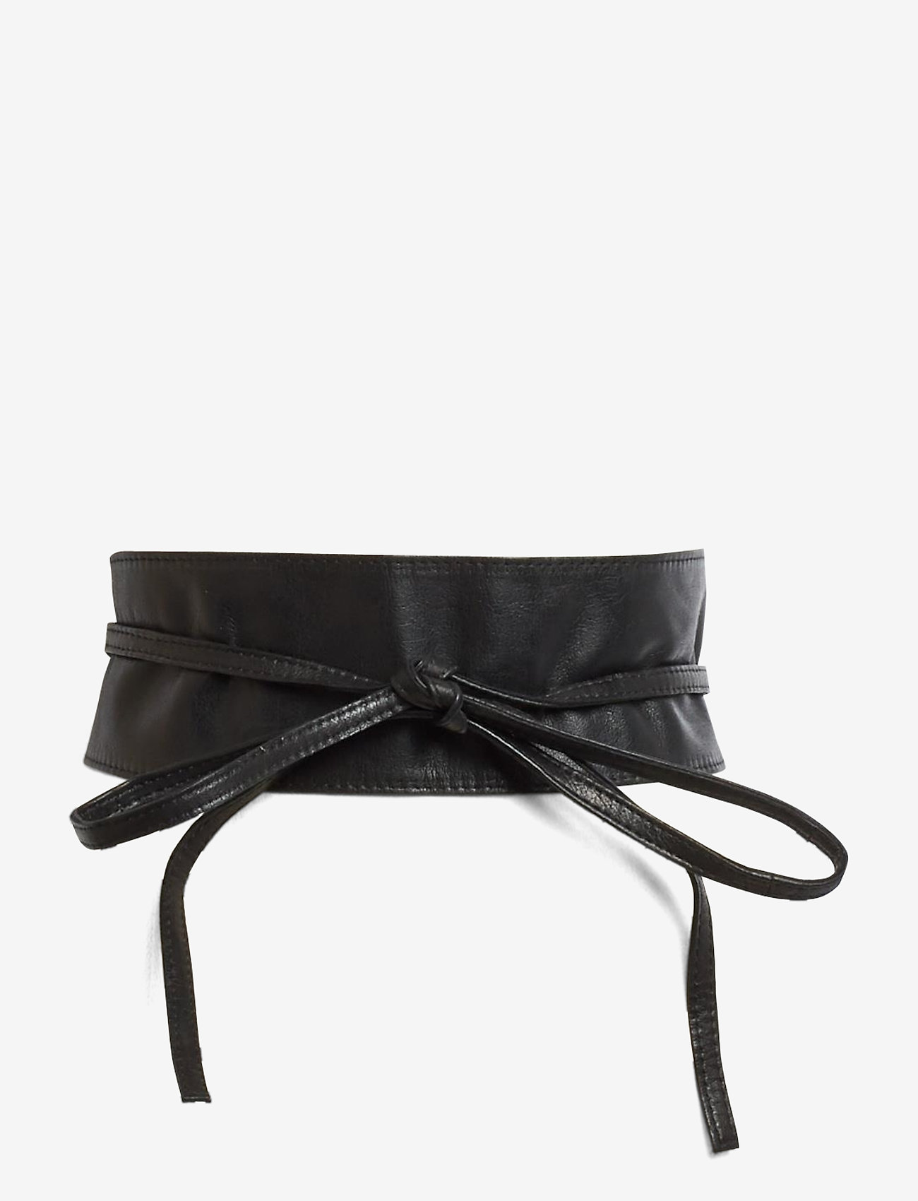 Pieces - vibs leather tie waist belt - riemen - black - 0