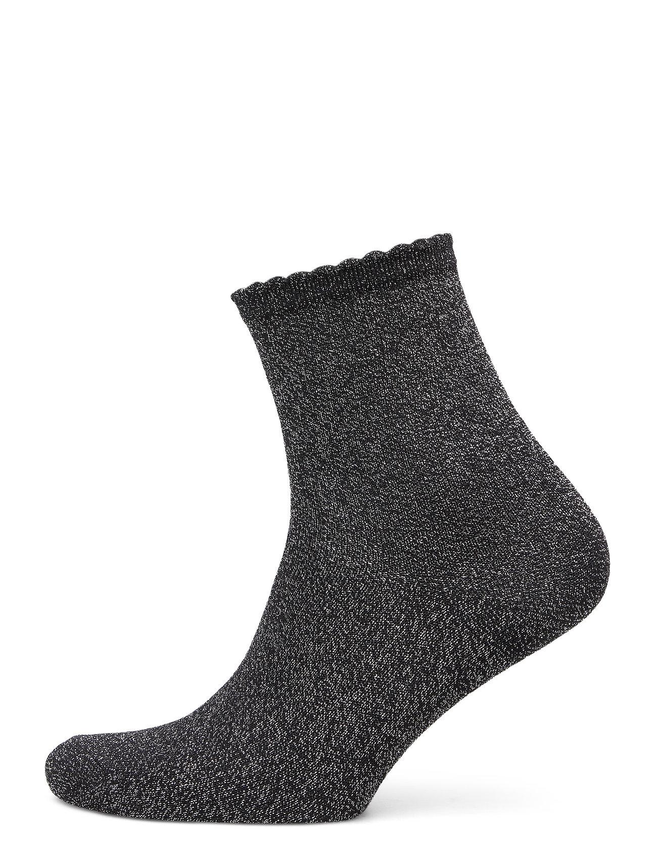 Image of Pcsebby Glitter Long 1 Pack Socks Noos Lingerie Socks Regular Socks Sort Pieces (3492735437)