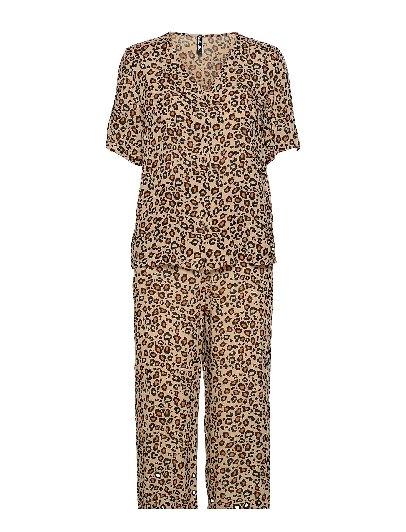 Pcanja Hw Night Set Kac Pyjamas Nattøj Brun Pieces