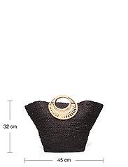 Pieces - PCLILLO STRAW BAG SWW - bucket-laukut - black - 4
