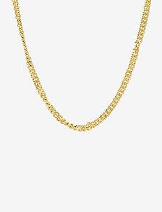 PCNIBE BASIC NECKLACE D2D PLATED - statement necklaces - gold colour