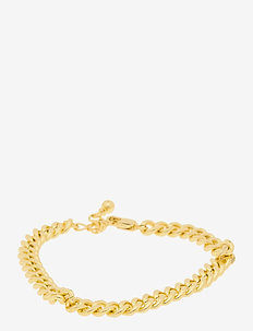 PCNIBE BASIC BRACELET D2D PLATED - dainty - gold colour