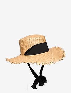 PCTONEROSA STRAW HAT - stråhattar - nature