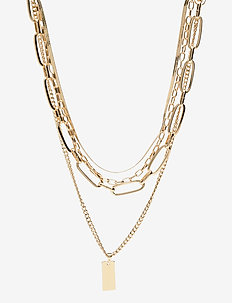 PCDOMINA COMBI NECKLACE D2D - kettingen  - gold colour