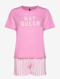 PCALMA NIGHT SET KAC - pyjamas - lilac chiffon