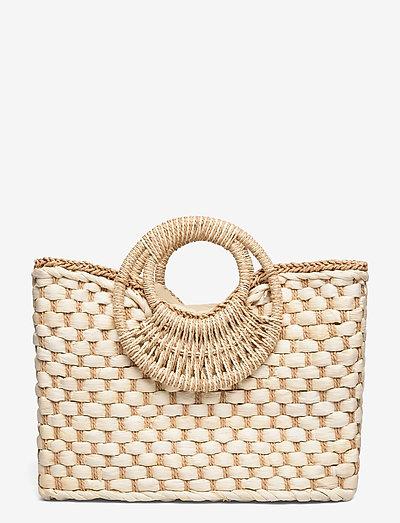 PCTESSA STRAW BAG - håndtasker - nature