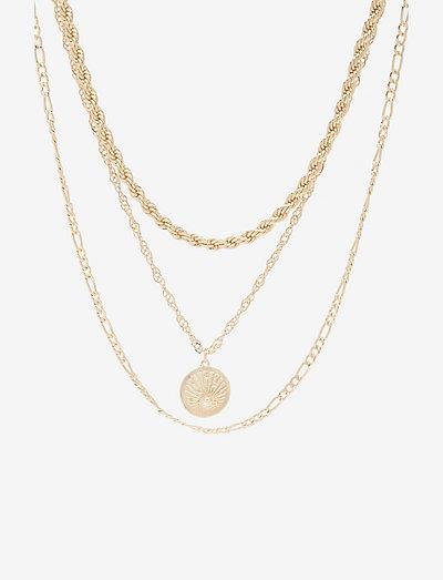 PCKAREN COMBI NECKLACE - halskæder - gold colour