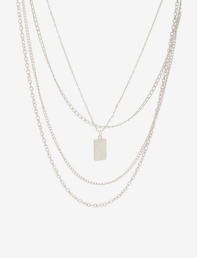 PCKIRSTEN COMBI NECKLACE - halskæder med vedhæng - silver colour