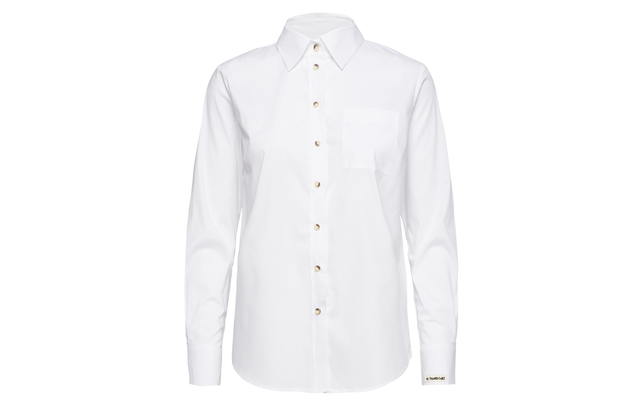 Talisha 3 Pieszak Shirt Elastane Ls White Optical 97 Coton ZpTzxgqwT