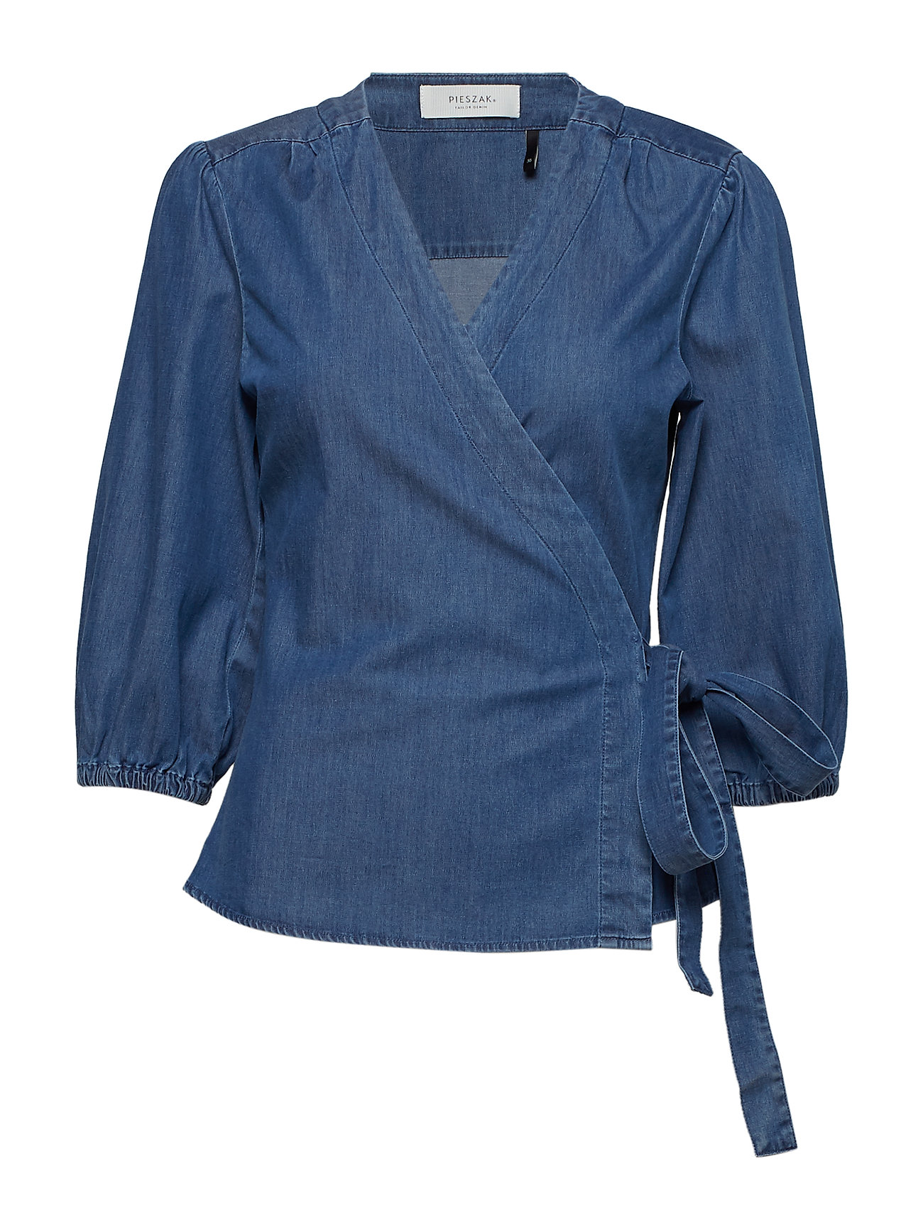 f9eddba70087cf Tilly Cross Over Blouse (Denim Blue) (£109) - Pieszak -