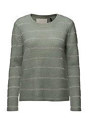 Alina o-neck knit - DUSTY GREEN