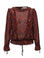 Ammeli flair shirt - FLASH RED