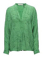 Safira wing shirt - GRASS GREEN