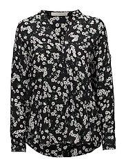 Amilie wing shirt - BLACK