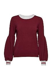 Eba balloon knit - DEEP RED WINE