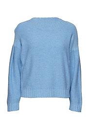 Vicky drop shoulder knit - PALACE BLUE