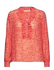 Louisa gia frill shirt - SOFT CANDY